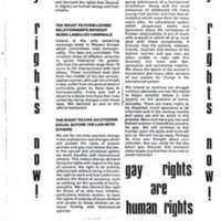 1980s Gay Rights Now Leaflet