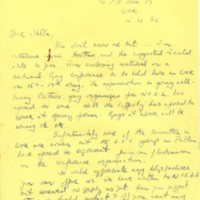 Kieran Rose Letter to Stella re 1981 National Gay Conference Cork