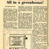 Cork Examiner Review of 1980 Gay Sweatshop play