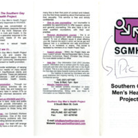 Southern Gay Men's Health Project Leaflet Cork 1990s