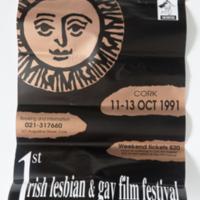 Poster 1st Irish Lesbian & Gay Film Festival Cork 1991