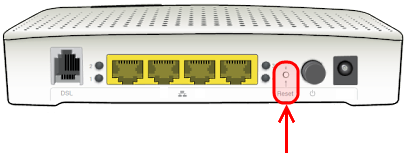 How to factory reset your Technicolor TG582n router