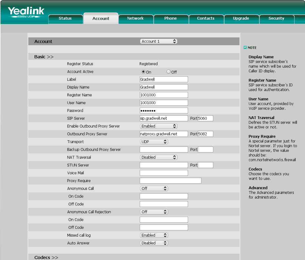 Yealink T20PN Initial setup – Gradwell Service and Support