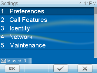 Snom 820 / 821 Finding the IP address of your device