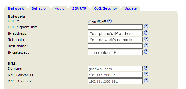 Setting up port forwarding on a Snom phone – Gradwell Service and