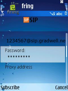 How to configure the fring mobile softphone – Gradwell Service and
