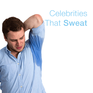 celebrities that sweat