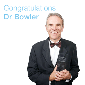 Dr Patrick Bowler Wins Lifetime Achievement Award