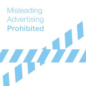 misleading advertising prohibited