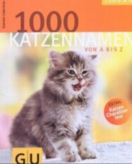 1000 Katzennamen von A bis Z