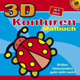 3 D Konturen Malbuch, blau