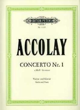 CONCERTINO 1 A-MOLL - arrangiert für Violine - Klavier [Noten / Sheetmusic] Komponist: Accolay Jean Baptiste