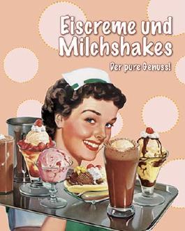 Eiscreme und Milchshakes