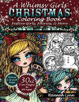 A Whimsy Girls Christmas Coloring Book: Festive Girls, Fairies, & More