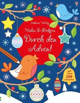 Malen und Stickern: Durch den Advent