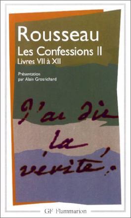 Les Confessions, tome 2 : Livres VII à XII