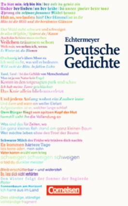 Echtermeyer: Deutsche Gedichte - Jubiläumsausgabe / Gedichtband