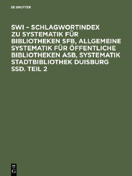 SWI Schlagwortindex, Teil 2