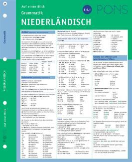 PONS Grammatik auf einen Blick Niederländisch