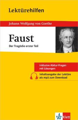 """Lektürehilfen Johann Wolfgang von Goethe """"Faust - Der Tragödie erster Teil"""""""