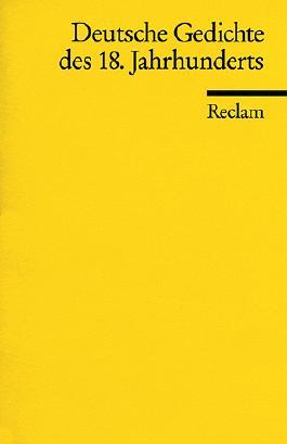 Deutsche Gedichte des 18. Jahrhunderts
