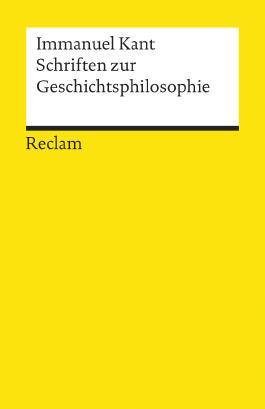 Schriften zur Geschichtsphilosophie