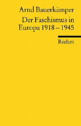 Der Faschismus in Europa 1918-1945