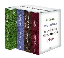 Peter Rosegger. Ausgewählte Werke. Gesamtschuber mit 4 Bänden