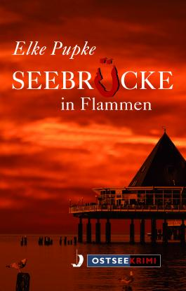 Seebrücke in Flammen