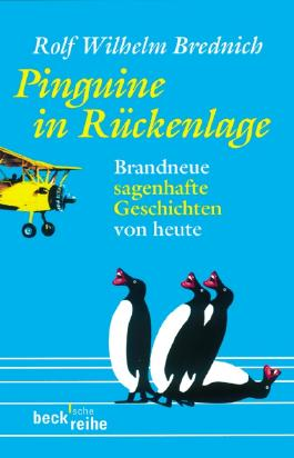 Pinguine in Rückenlage