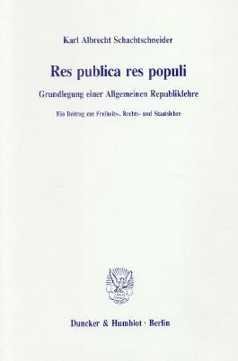 Res publica res populi.