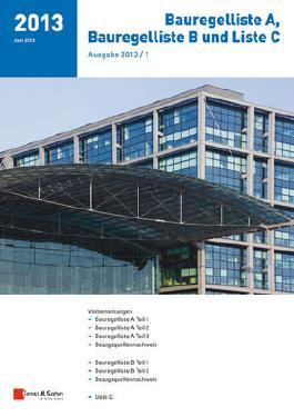 Bauregelliste A, Bauregelliste B und Liste C, Ausgabe 2013/1