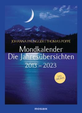 Mondkalender - die Jahresübersichten