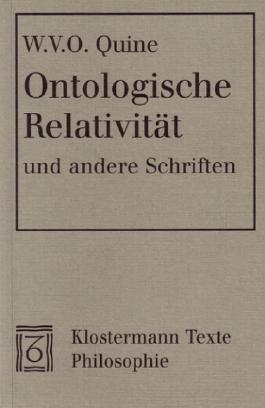 Ontologische Relativität und andere Schriften
