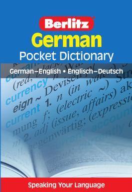 Berlitz Pocket Dictionary German