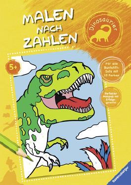 Malen nach Zahlen: Dinosaurier