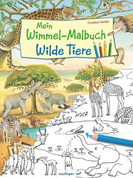 Mein Wimmel-Malbuch – Wilde Tiere