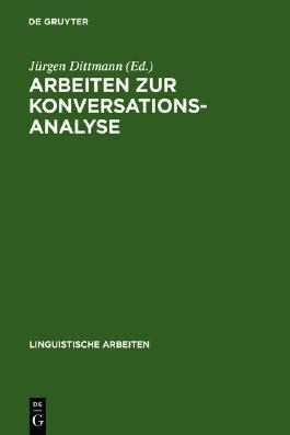 Arbeiten zur Konversationsanalyse