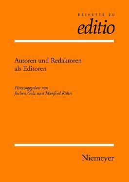 Autoren Und Redaktoren Als Editoren