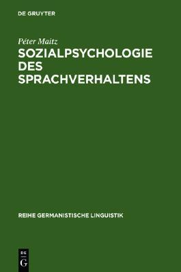 Sozialpsychologie des Sprachverhaltens