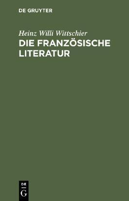 Die französische Literatur