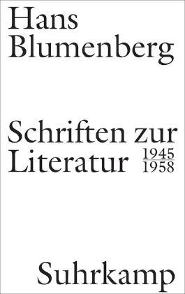 Schriften zur Literatur 1945-1958