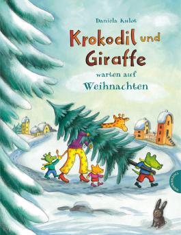 Krokodil und Giraffe warten auf Weihnachten