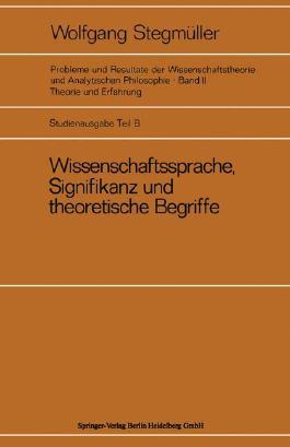 Wissenschaftssprache, Signifikanz Und Theoretische Begriffe