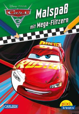 Pixi kreativ 110: Disney Cars 3 - Malspaß mit Mega-Flitzern
