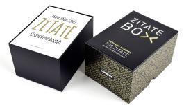 Zitate-Box schwarz: 200 Zitate im Postkartenformat