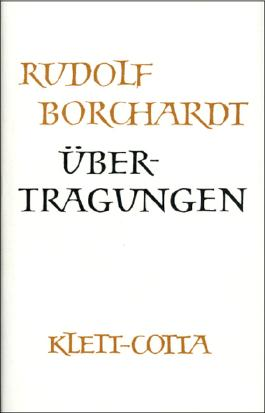 Gesammelte Werke in Einzelbänden / Übertragungen