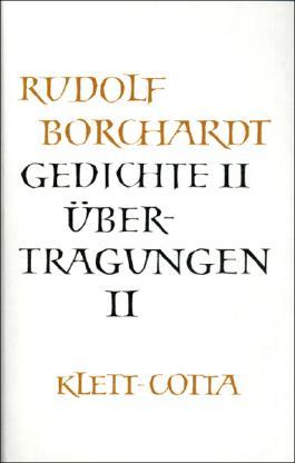 Gesammelte Werke in Einzelbänden / Gedichte II /Übertragungen II
