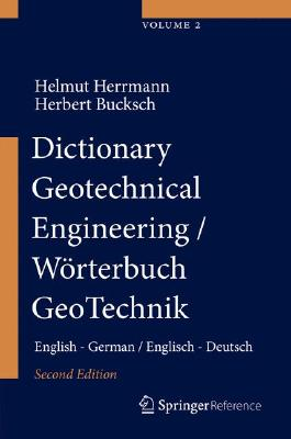 Dictionary Geotechnical Engineering/ Wörterbuch GeoTechnik