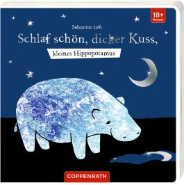 Schlaf schön, dicker Kuss, kleines Hippopotamus